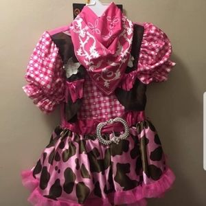 Other - Pink cow girl costume